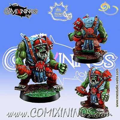Fantasy Football - Orcs Lineman Orc Nº 12 For Blood Bowl - Meiko Miniatures Lussuoso Nel Design