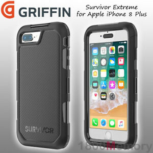 super popular 4d1c1 288d2 Details about GENUINE Griffin Survivor Extreme Case Black for Apple iPhone  8 Plus 7+ 6+ 5.5