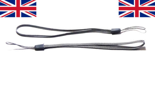 2x Wrist strap Grey hand wrap lanyard camera general loop safety key grip UK