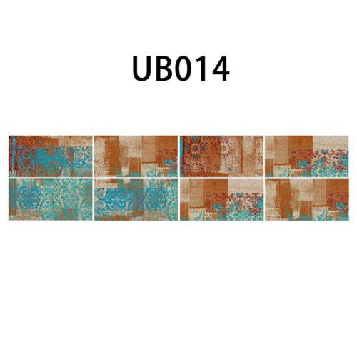 9PCS 3D Brick Tile Self-adhesive Waterproof Kitchen Bathroom Wall Sticker UK