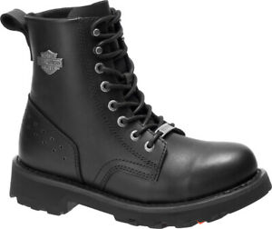 Harley-Davidson-Women-039-s-Kiva-5-75-Inch-Black-Leather-Motorcycle-Boots-D87187
