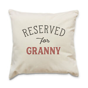 NEW-RESERVED-FOR-GRANNY-Quality-Cushion-Cover-Gift-Present-Xmas-Birthday