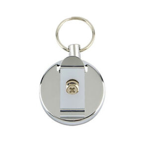 Retractable-Metal-Key-Chain-Durable-Stainless-Steel-Belt-Clip-Pull-Key-Ring