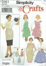 Simplicity Pattern 2492 Adult and Child Aprons pot holders play food cookies