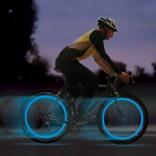 2 X Blue Bike Bicycle Cycling Wheel Spoke Wire Tyre Bright LED Flash Light Lamp