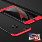 iPhone X 8/7/6s Plus Slim Hybrid Shockproof Armor Hard Thin Case Back Cover