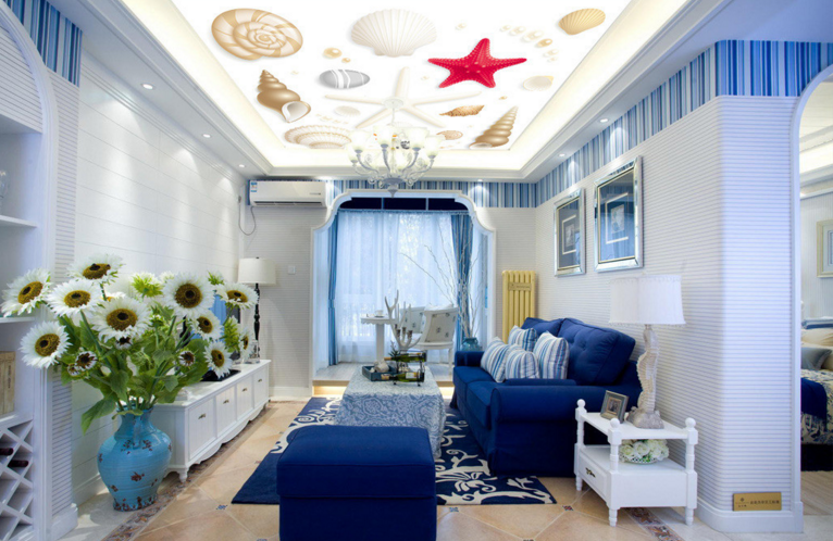3D Starfish 5 Ceiling WallPaper Murals Wall Print Decal AJ WALLPAPER US