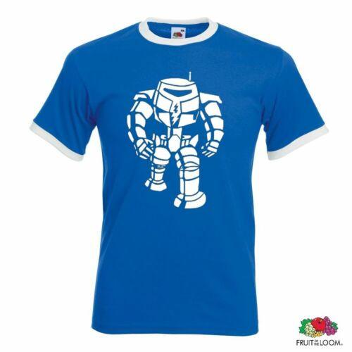 Big Bang Theory Cooper Roboter Herren Retro T-Shirt