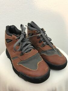 super populaire 3bcdb 45ab3 Details about New Balance 615 Brown Leather Hiking Boots Size 8 B Trail  Walking USA Made Vtg