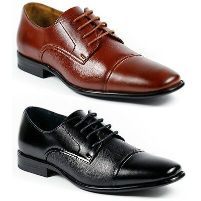 Delli Aldo Men's Lace Up Cap Toe Oxford Dress Shoes w/ Leather lining M-19235