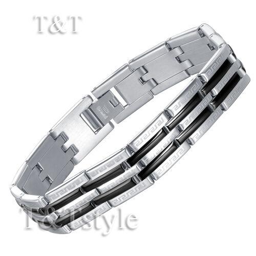 UNIQUE T/&T 316L Stainless Steel GREEK PATTERN Bracelet BBR84