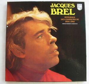 JACQUES-BREL-COFFRET-5x33T-INTEGRALE-DES-CHANSONS-DE-1954-A-1962