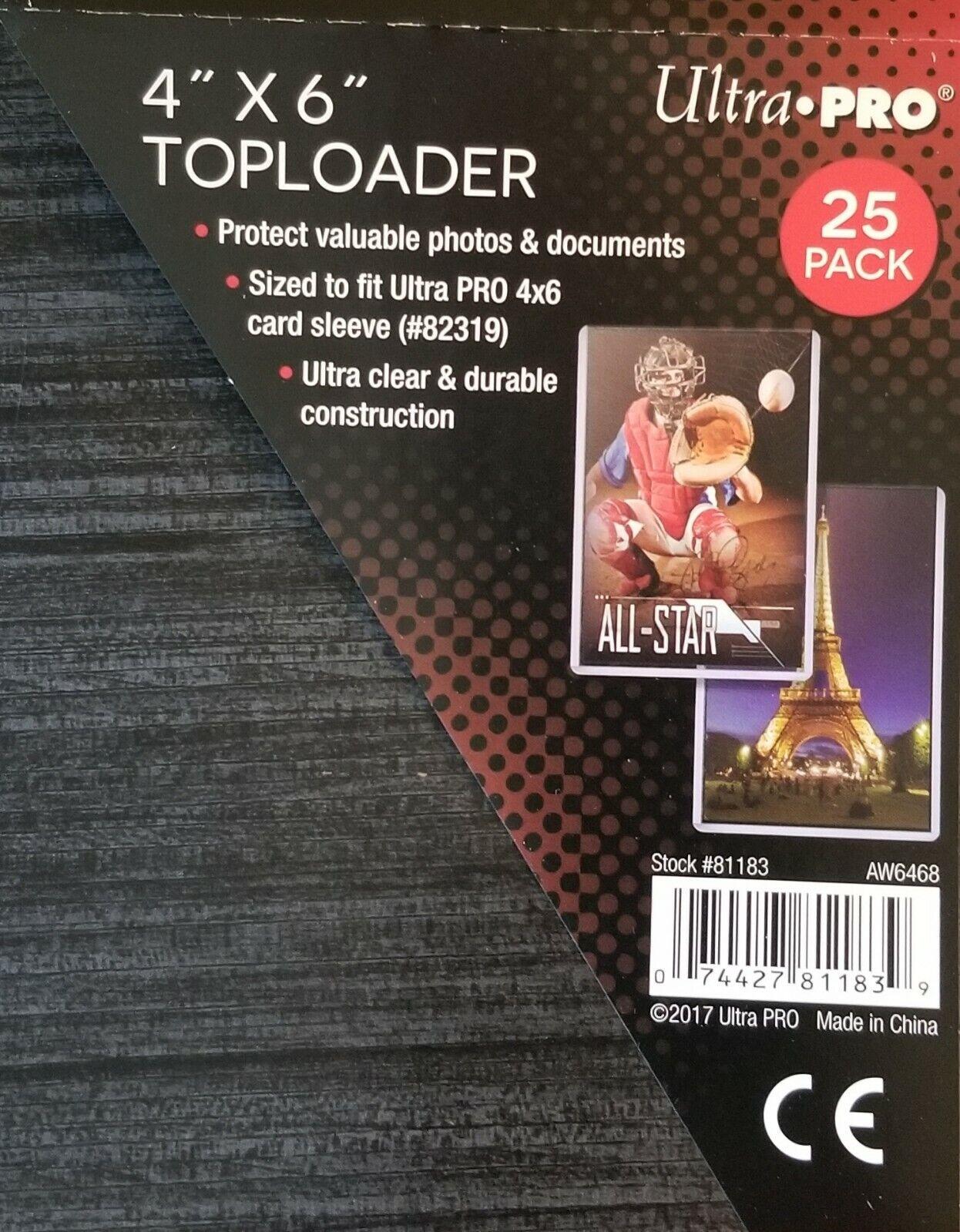 25 Ultra Pro 5 x 7 Premium Toploader Top Loader Photo Card Holder Foto Halter
