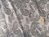 Paisley Jacquard Grey,2 Tone poly/viscose mix, (per metre) dress fabric, sewing