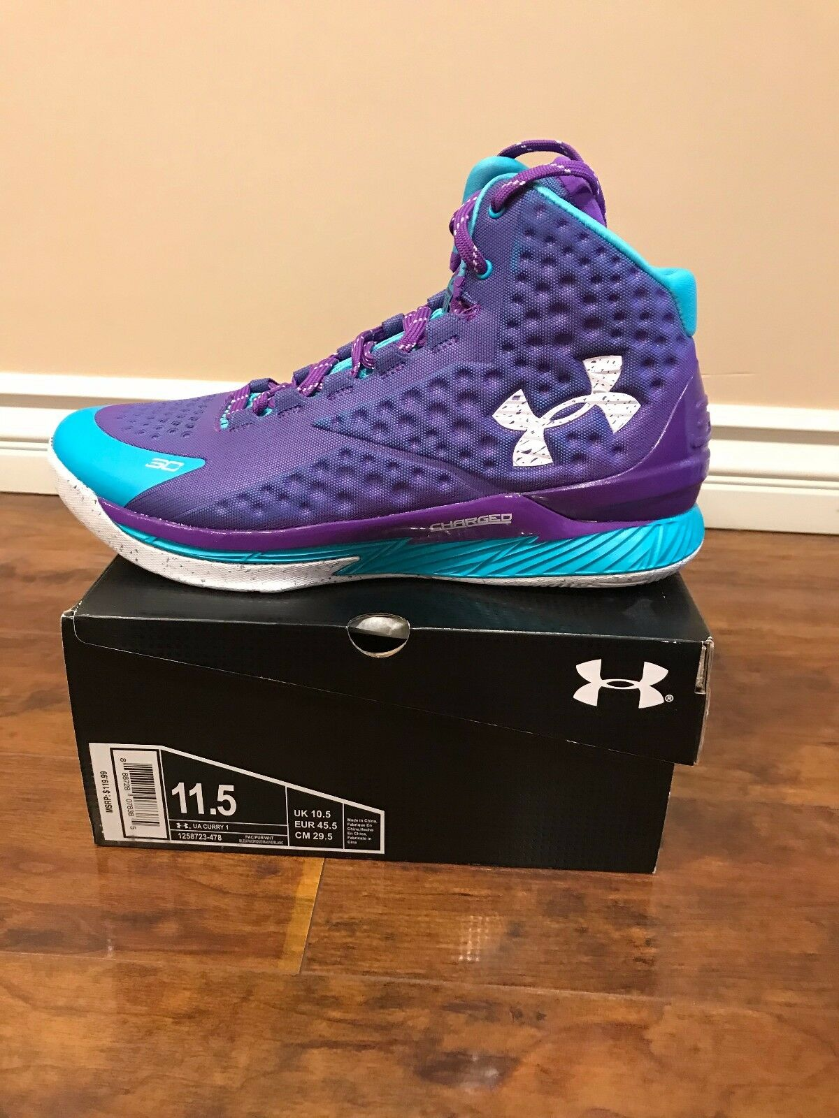 DS BNIB Size 11.5 Under Armour Curry One Father To Son