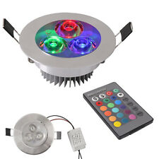 5W RGB LED Ceiling Light Dimmable Wireless Remote LED Recessed Light 16 Colors