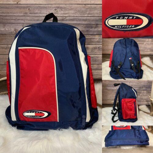 Vintage 90's Tommy Hilfiger Backpack Big Flag Cres