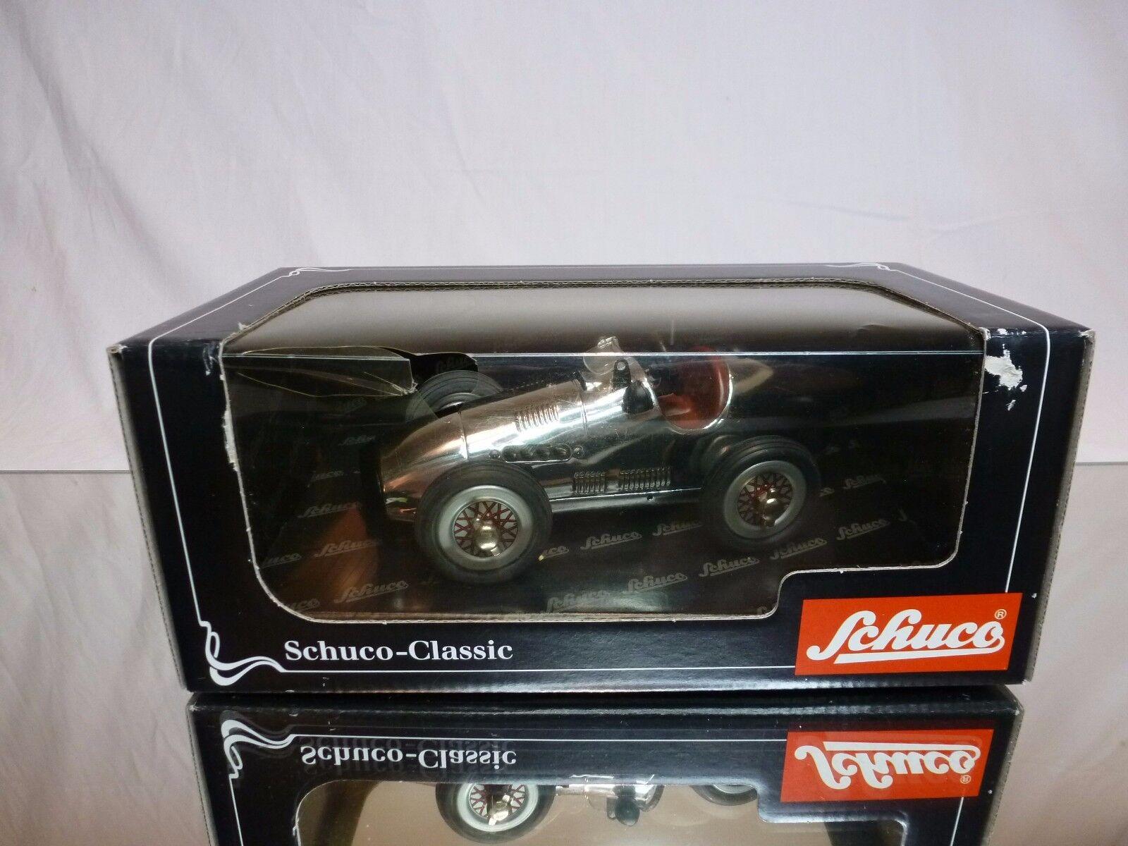 SCHUCO 1023 1070 GRAND PRIX RACER   - - F1 CHROME L16.0cm - EXCELLENT IN BOX