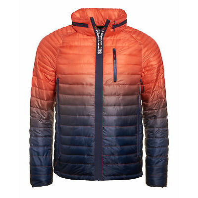 New Mens Superdry Power Fade Jacket Ink/Orange