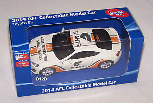 Greater-Western-Sydney-Giants-2014-AFL-Collectable-Toyota-86-Coupe-Model-Car-New