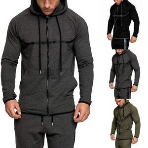 Men/'s Warm Hoodie Sweatshirt Sweater Outwear Jacket Hooded Coat Overcoat Casual