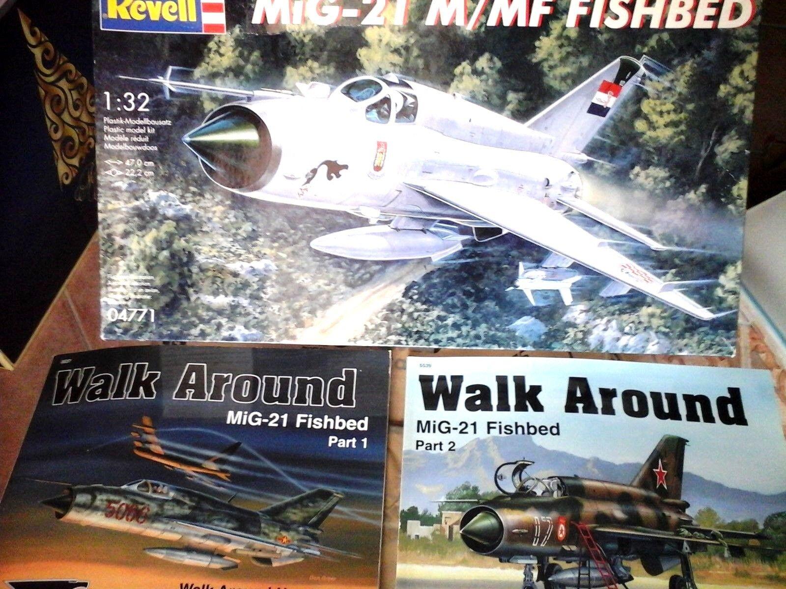 MIG-21 M MF FISHBED 1 32REVELL Modellll+N.2 SQUADRON SIGNAL WALK AROUND N.37&N.39