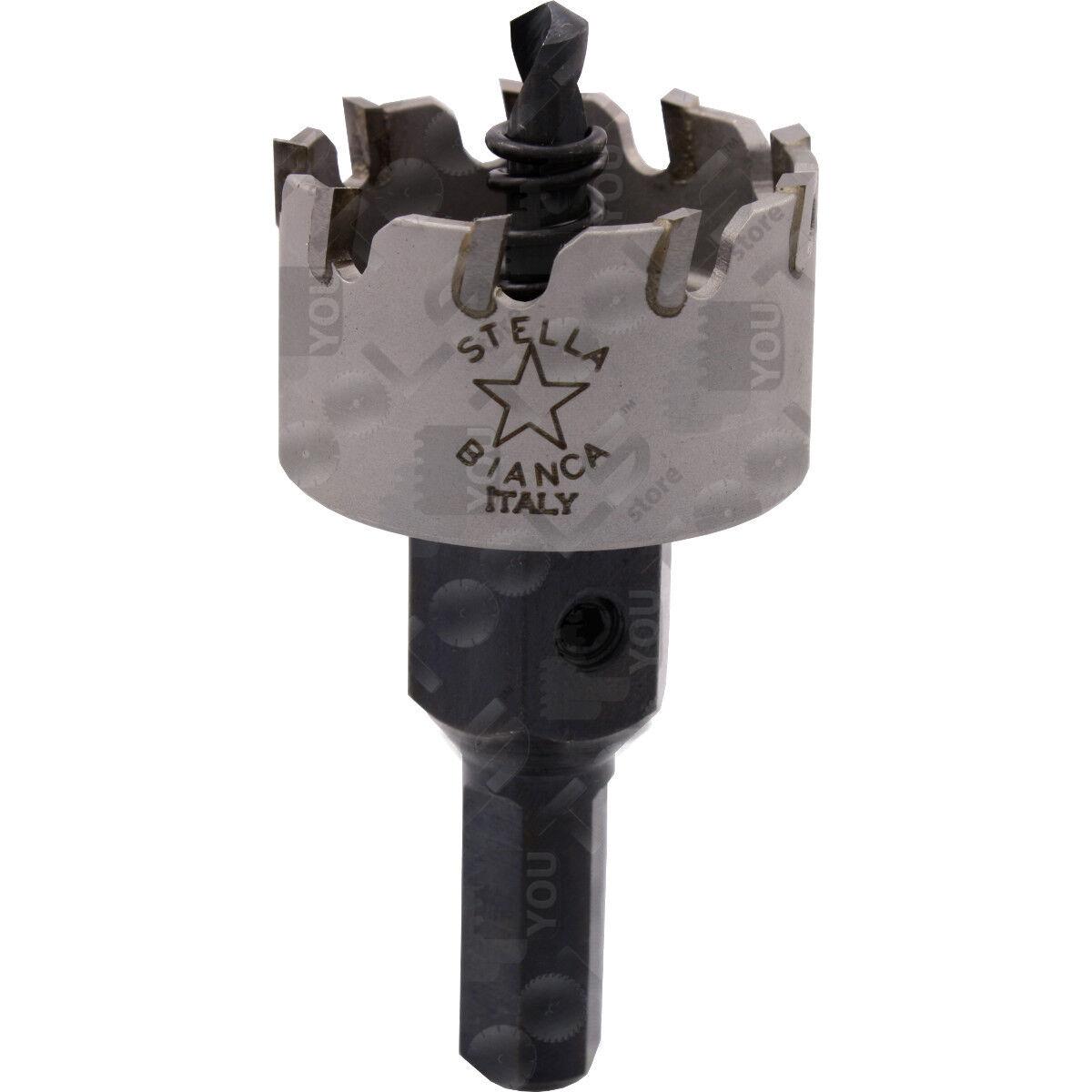 Fresa a tazza T.C.T. per Inox da Ø 15 a Ø 55 mm per ferro, metalli, acciaio inox