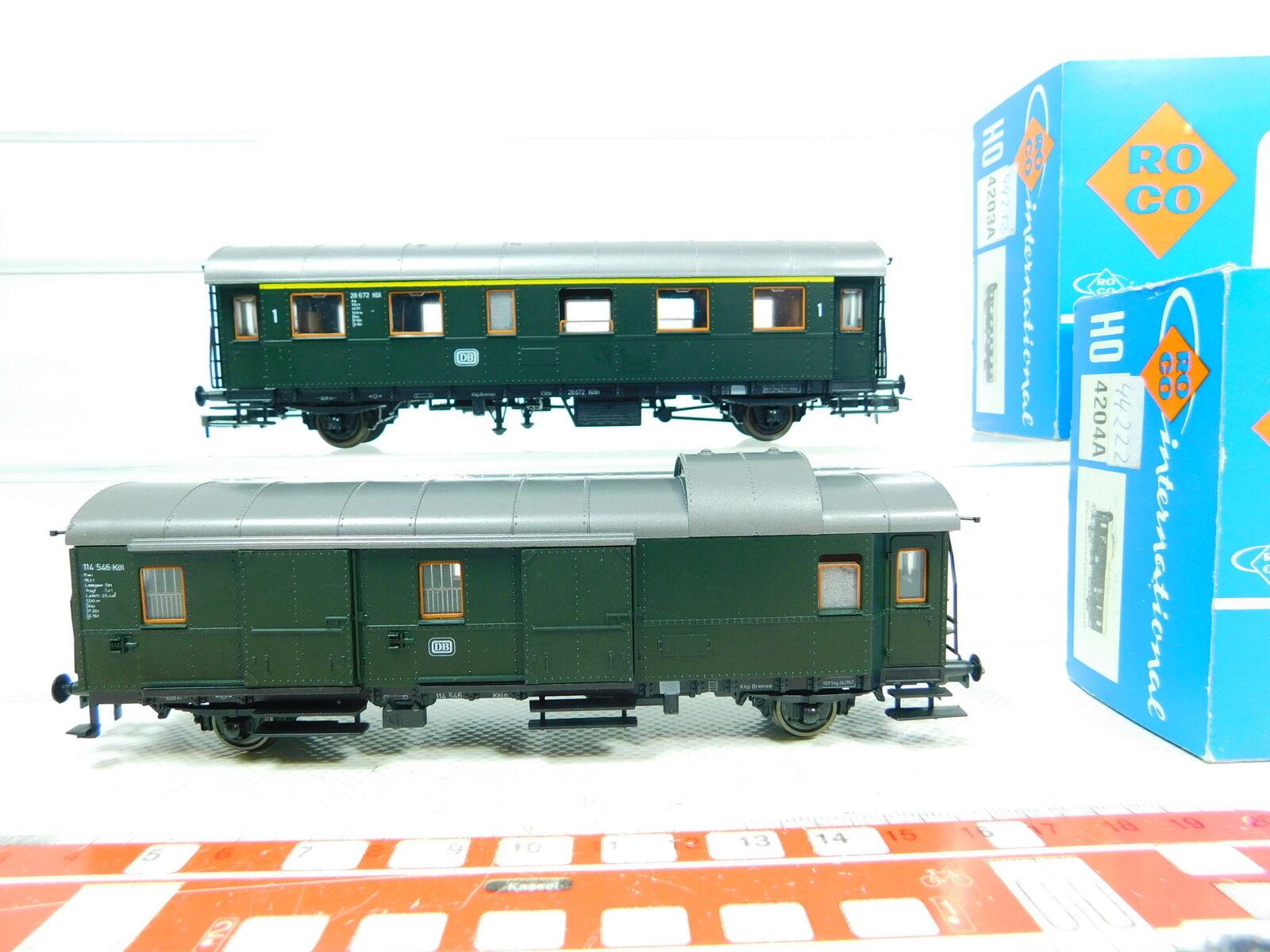 precios bajos BT502-0, 5  2x Roco H0     Dc Equipaje Vagones Db Nem   4203a+4204a , Emb.orig  venta de ofertas
