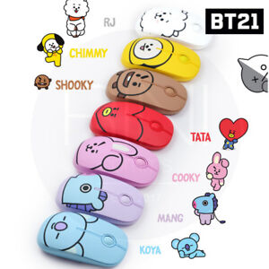 BTS-BT21-Official-Authentic-Goods-Wireless-Silent-Mouse-7Characters-Tracking