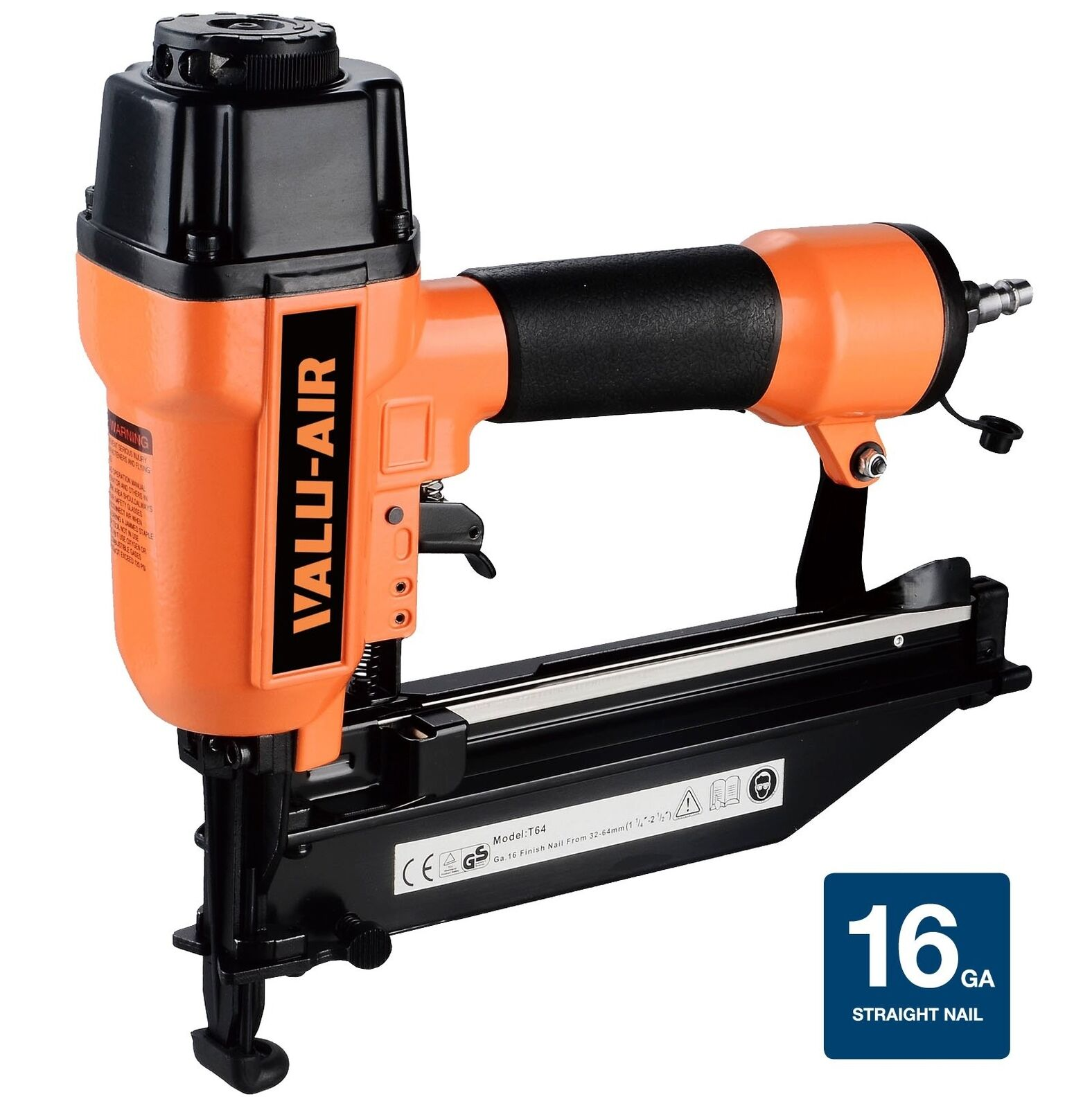 Valu-Air T64C 16 Gauge Finish Nailer 7/8-Inch 7/8-Inch 7/8-Inch to 2-1/2-Inch 0597d3