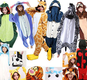 Unisexe-Kigurumi-pyjamas-adultes-Cosplay-Costumes-animaux-Onesies-Pyjamas-S-XXL