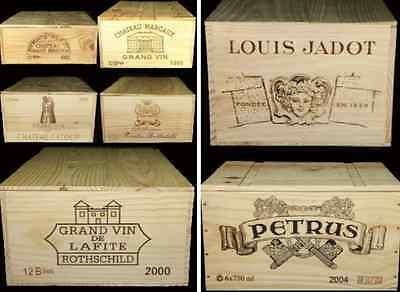Accurato 1 X Francese Originale 6 Bottiglia In Legno Cassa Di Vino/box/fioriera Cesto Di Stoccaggio >>- Chiaro E Distintivo