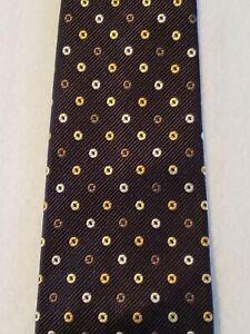 ebba4171 Details about Ermenegildo Zegna Italy Navy Dark Blue Silk Tie Necktie  Geometric Circles