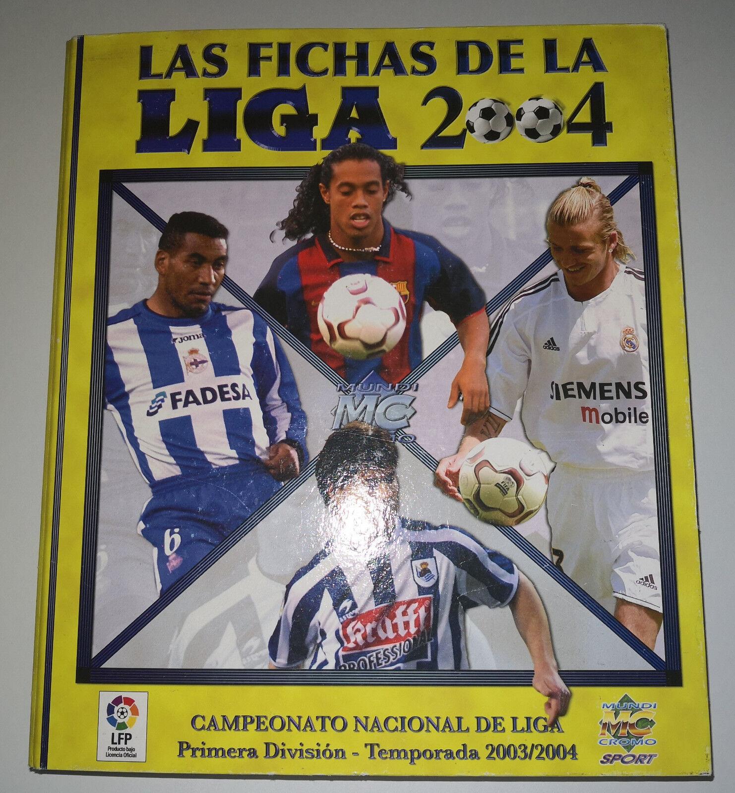 LAS FICHAS DE LA LIGA 2004 COMPLETA
