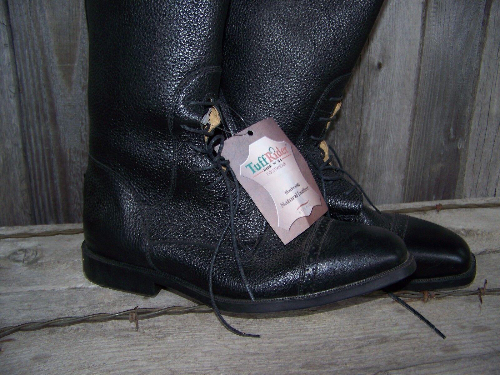 Field Stiefel (Pebbled Grain) with Slide Slide with Zip - TuffRider for Damens (Größe 11.0S) 707b4a