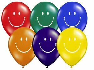10-X12-034-MULTI-SMILE-FACE-LARGE-BALLOONS-LATEX-RUBBER-HELIUM-PARTY-MIX-BALLOON