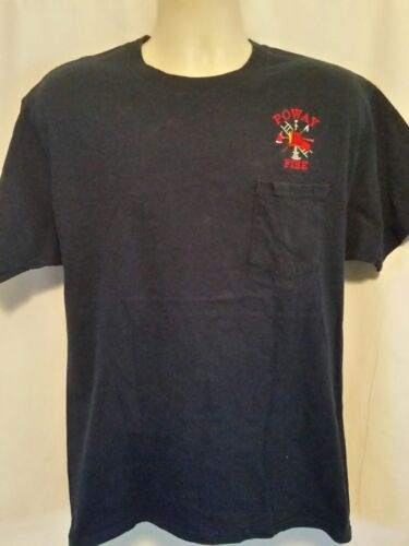 Poway Fire Fire Fighters Embroidered Mens Shirt Si