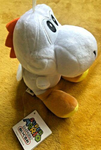 "Size 7/"" 17.5cm NEW /& Tagged White Yoshi Soft Toy Super Mario Plush Teddy"