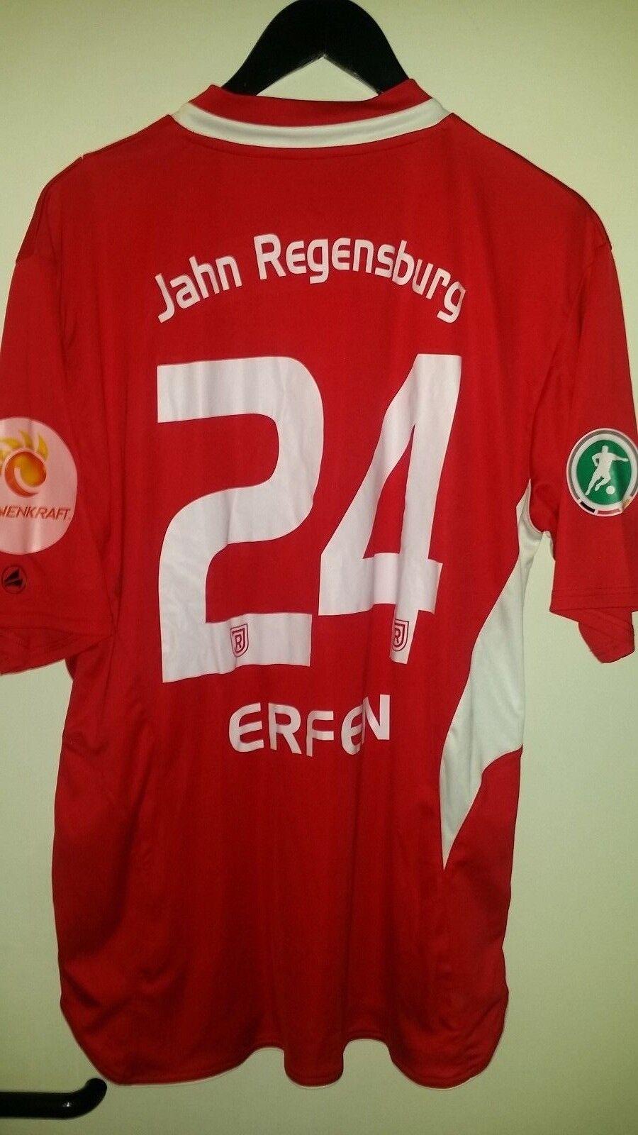 Trikot Fußball SSV Jahn Regensburg Tim Erfen  2011 2011 2011 jako xl rot 165209