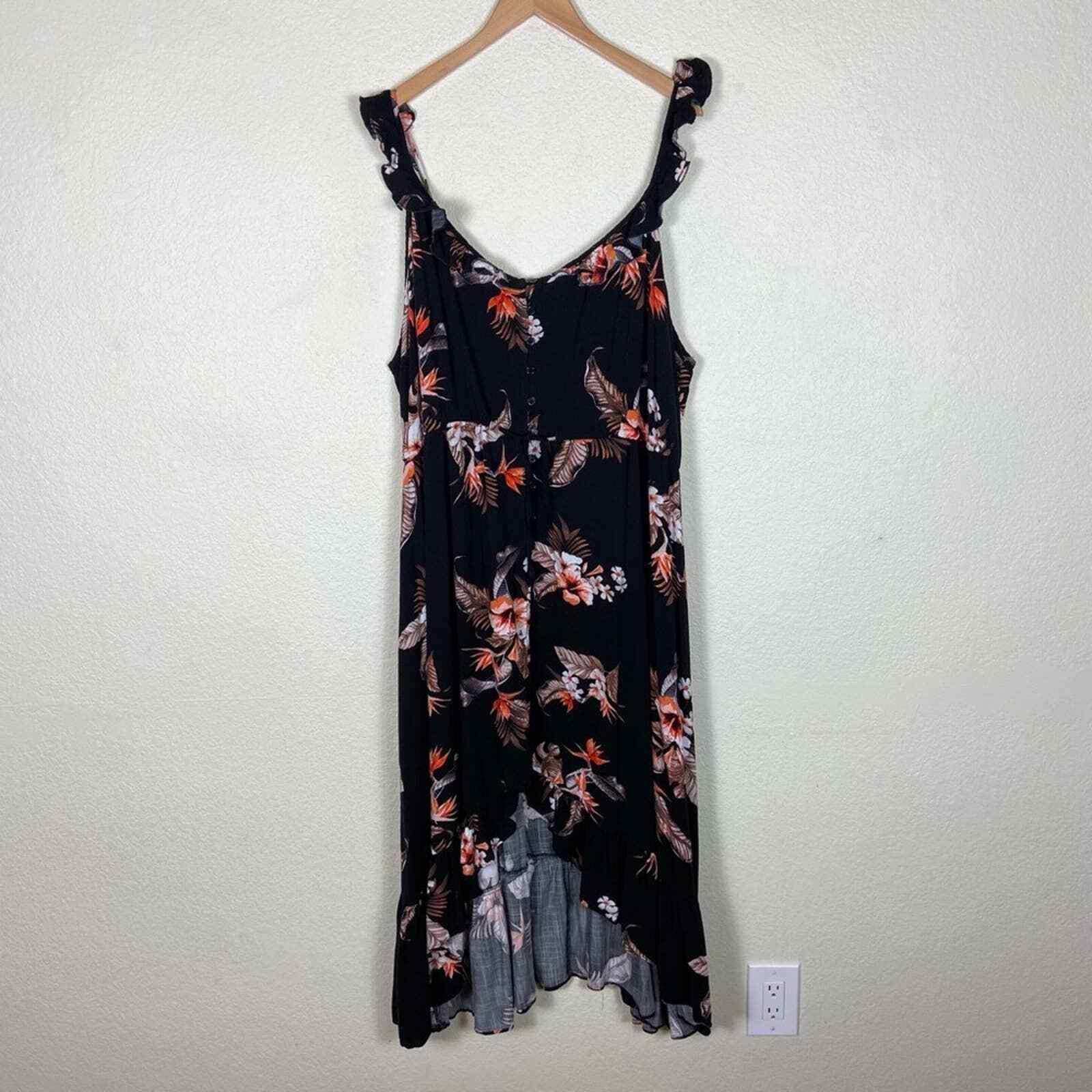 City Chic Seville Black Floral Swing Midi Dress - image 3