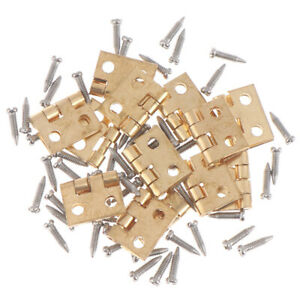 1-12-Dollhouse-Miniature-Fitment-Material-Metal-Hinges-And-Screws-For-Mini-D-DD