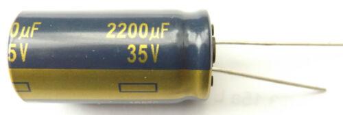 2200uf 35v 105c baja ESR tamaño 31.5x16mm Panasonic EEUFC 1V222 X 4 piezas