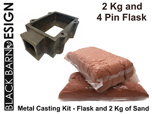 Gold Silver Bronze Delft Style Sand Casting Kit 2 Kg /& Flask for Metal Casting