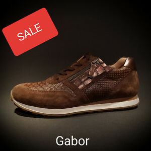 special sales separation shoes look out for Details zu Gabor Comfort shoes Damen Sneaker Schuhe Sportschuh braun NEU  SALE
