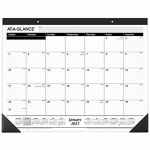 "2021 Desk Calendar by , Monthly Desk Pad, 21-3/4"" x 17 ..."