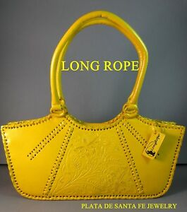 Image Is Loading Long Rope Mexican Hand Tooled Elegant Design Yellow