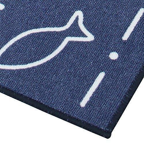 Carvapet 2 Pieces Non-Slip Kitchen Mat Set Rubber Backing Doormat Runner Rug