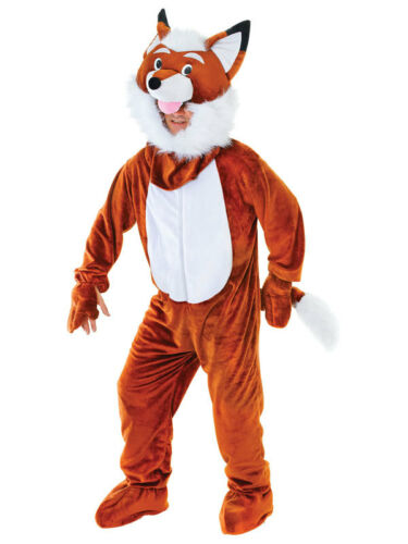Adult Mr Fox Big Head Mascot Fancy Dress Costume Outfit New Giant Comic Relief