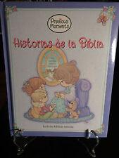 Precious Moments Historias de la Biblia (Spanish Ed.) 2003-Rare Find-Like New