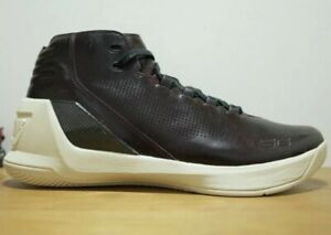 new style dc022 bbd9a Details about Under Armour Men's UA Curry 3 Lux Limited Edition Shoes - Sz  12 Oxblood Leather